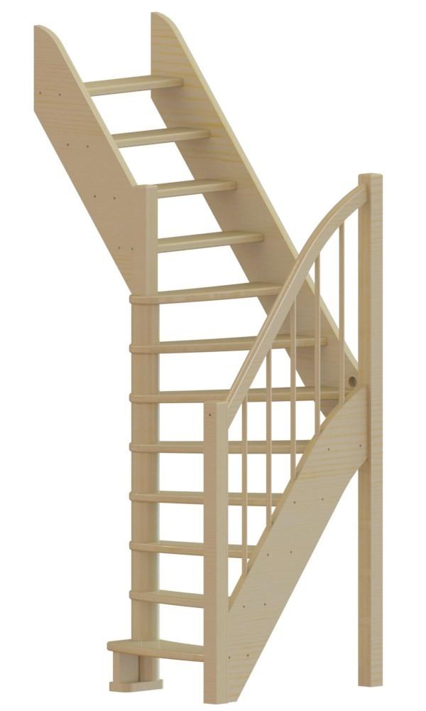 Лестница  ЛС-91м+1 Л, сосна  (3 уп)