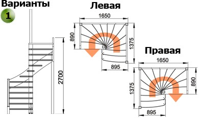 Лестница  ЛС-01м Л сосна (4 уп)