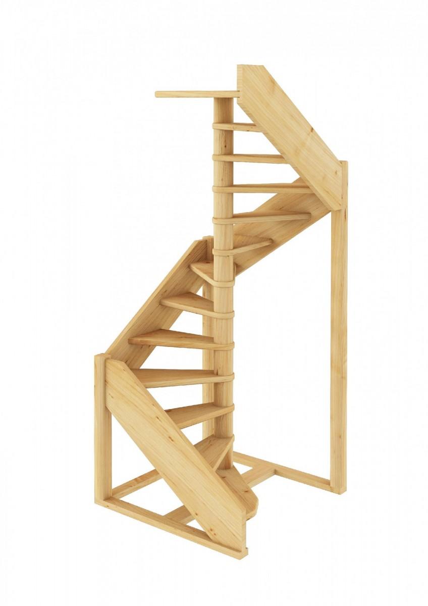 Лестница  ЛC-1.2хм П  сосна  (4 уп)