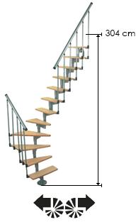 Доп. забежные ступени ( 4 шт) к лестнице MINKA Joker 600
